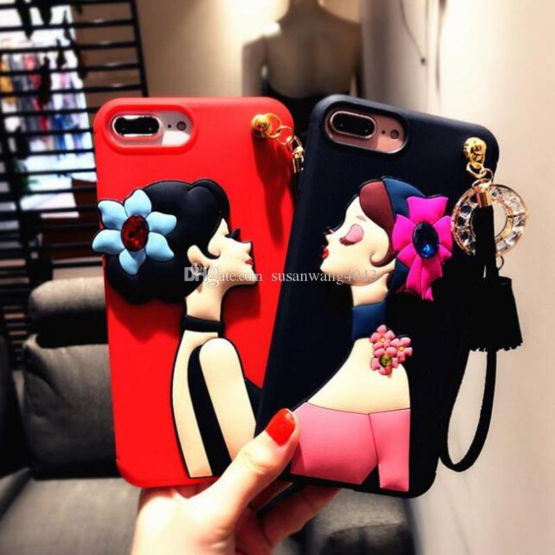 rhinestone luxury phone case for iphone 7 6 6s plus iphone7 soft