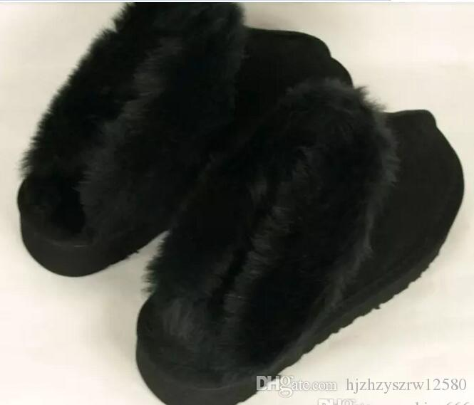 2014 new brand Australia Classic Women Men Cow Leather Snow Adult Slippers US5-13 Bag Logo pink sandy chestnut chocolate