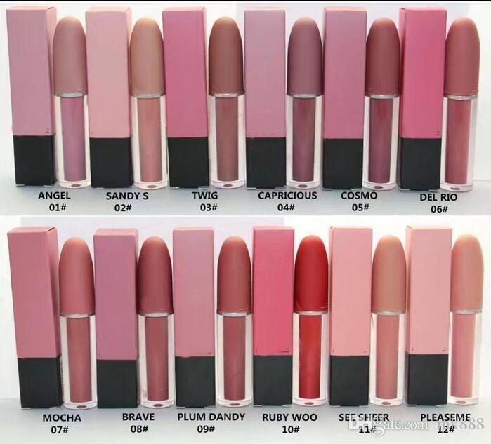 무료 배송 HOT 좋은 품질 최저 베스트셀러 좋은 판매 최신 매트 액체 루즈 립글로스 / 립스틱 4.5 g + 선물