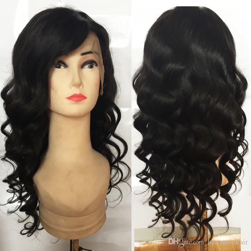 Loose wave 100% Mongolian human hair loose deep wave human full lace hair wigs for woman real hair photos large stock