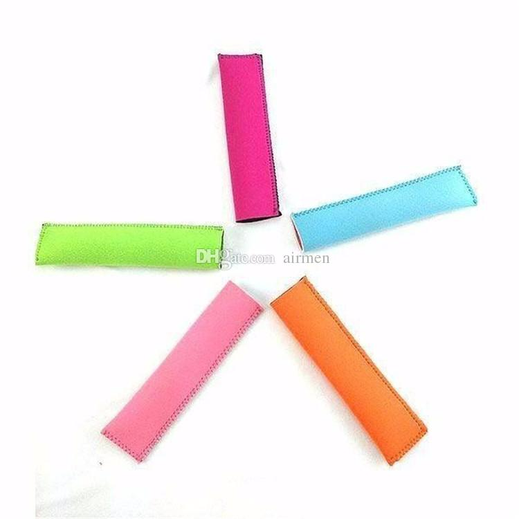 New Popsicle Holders 15x4cm Pop Ice Sleeves Freezer Pop Holders DHL Fedex Fast Shipping