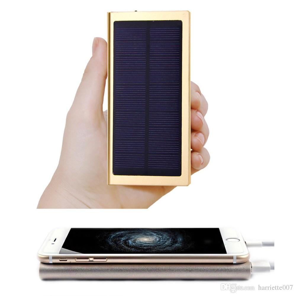 2016 الترا سليم 20000 مللي أمبير قوة البنك الخارجي الشمسية المزدوجة usb شاحن بطارية محمول لجميع لوحة الهاتف فون htc xiaomi