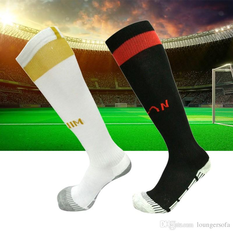 Adult football Sock Non Slip Sports Socks For Men Over Knee Thicken Towel Moisture Wicking Stockings Anti Friction Wearable 6 5nh F