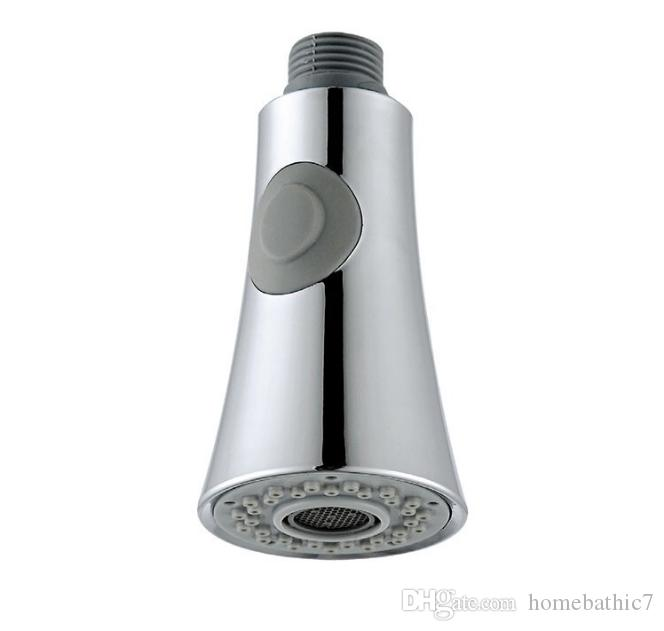 Brand New Bathroom Kitchen Faucet ABS Pull Out Sprayer Head Hand Held Shower Douche Chrome Finishes