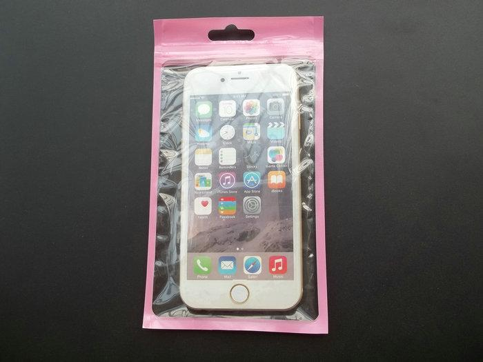 10*18cm Duplex Clear Plastic zipper Retail Packaging Bag for iPhone 5 6 6s 6 plug Samsung S5 S6 case hang hole package bags