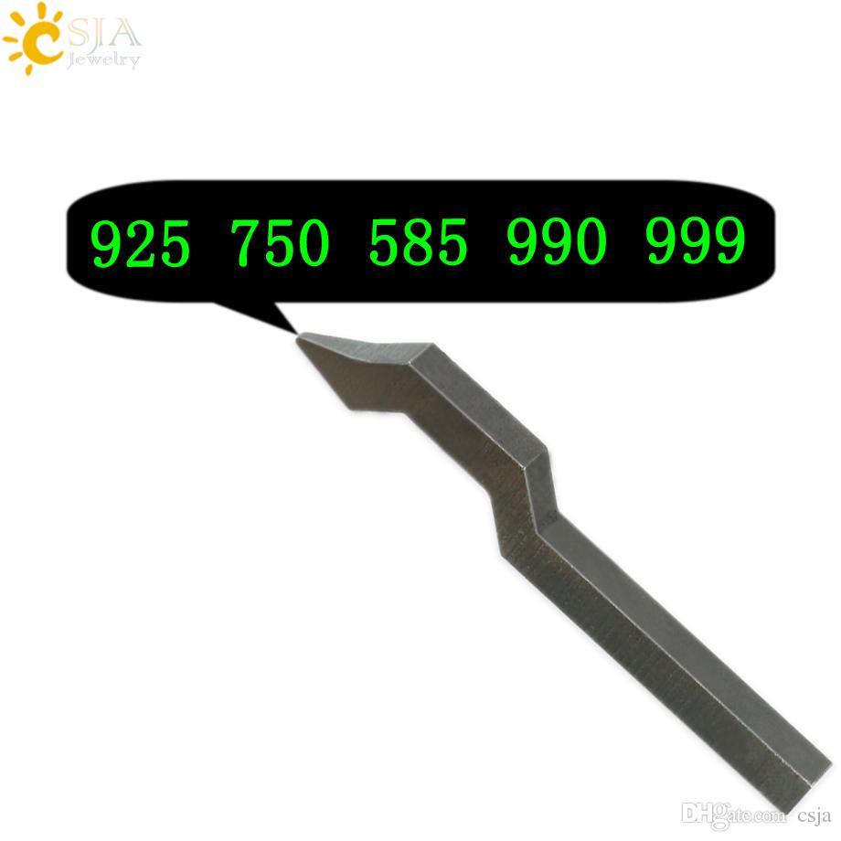 CSJA 925 750 585 999 보석 버클 마크 스탬프 도구 골드 스털링 실버 반지 팔찌 귀걸이 금속 스틸 펀치 금형 E177