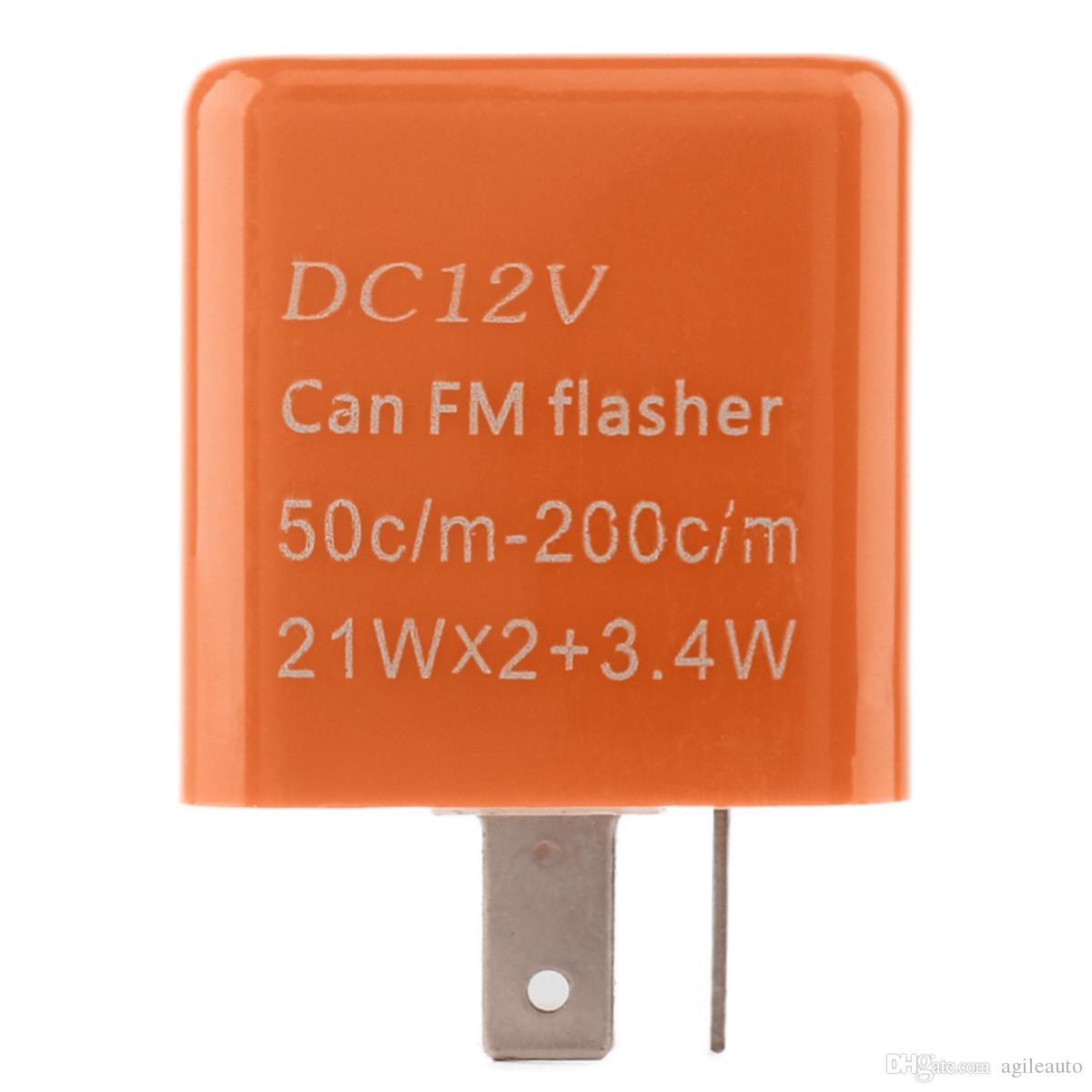 2 Pin 50C / m-200C / m Moto Einstellbare Frequenz LED Blinkrelais Motorrad Blinker Licht Blinker Anzeige Widerstand MOT_50Y