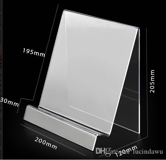 A4 Acrylic desk book magazine literature display rack table shelf storage file ducument menu exhibition stand Paper Poster Frame Holder