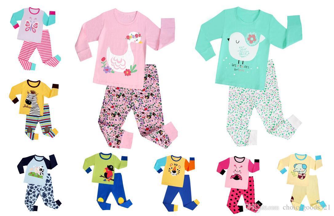 NEW Kids Pajamas Boys Girl Sleepwear Kids Animal Pajamas Top+Pants Children  Pajamas For 1~7 Years Baby Kids  L Cotton Flannel Pajamas For Kids Little  Boy ... e6753e35d