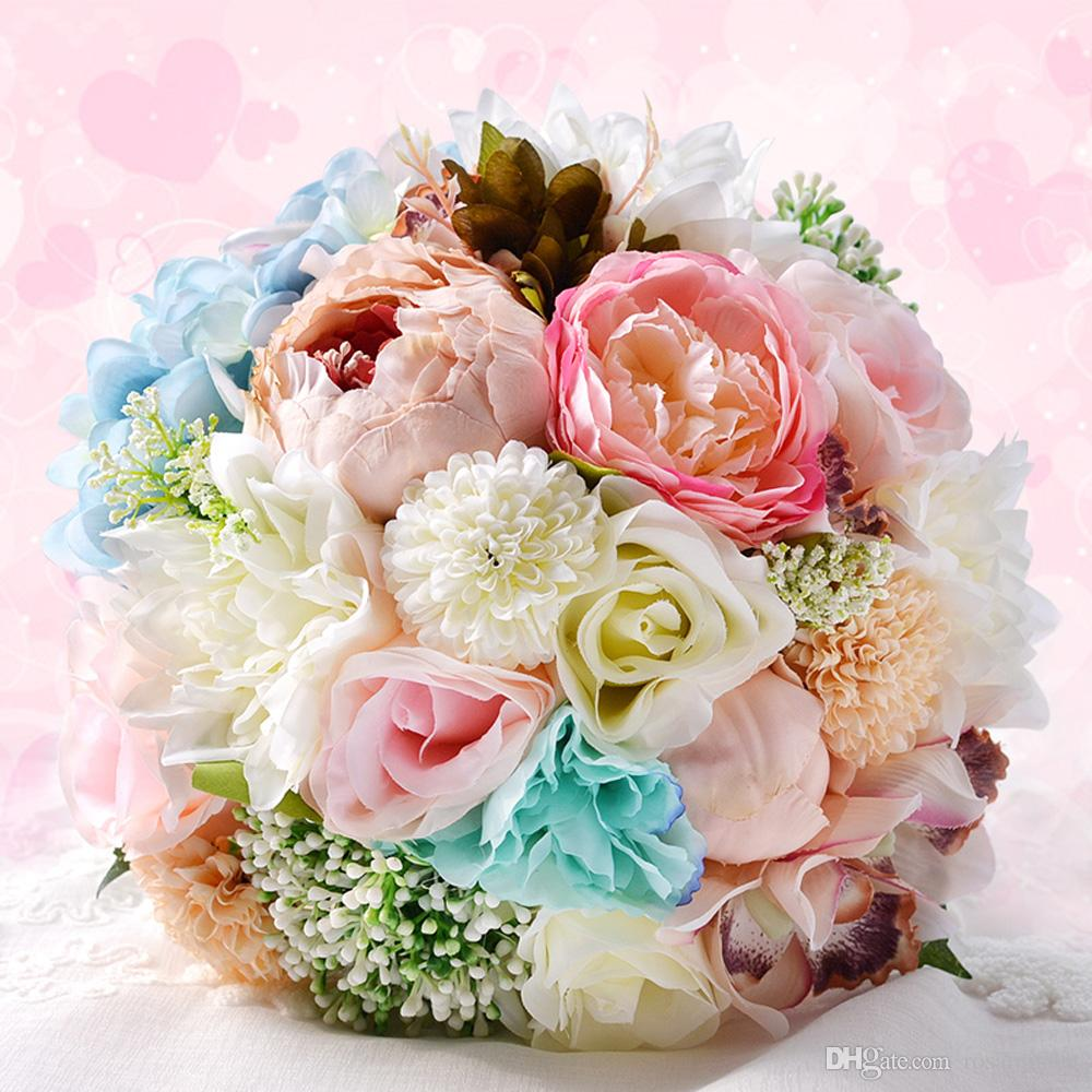2017 Handmade Colorful Wedding Bouquets Chic Wedding Flowers