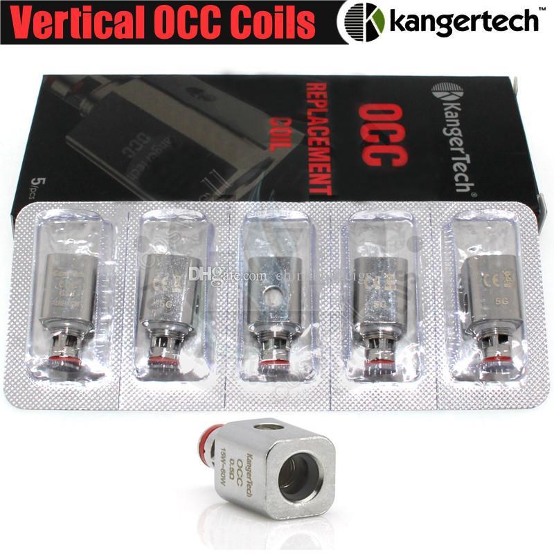 Top Kanger Vertical Bobines de rechange améliorées pour les bobines OCC verticales 0.2 0.5 1.2 1.5ohm fit Kangertech Subtank Mini Nano Plus vapor ecig Clearomizers DHL