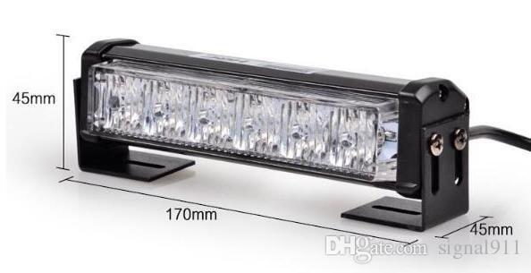 Lumières d'avertissement de gril de haute qualité DC10-30V, 6W * 2units, lumières de secours stroboscopiques, phares stroboscopiques, racine d'eau IP 67 2units /
