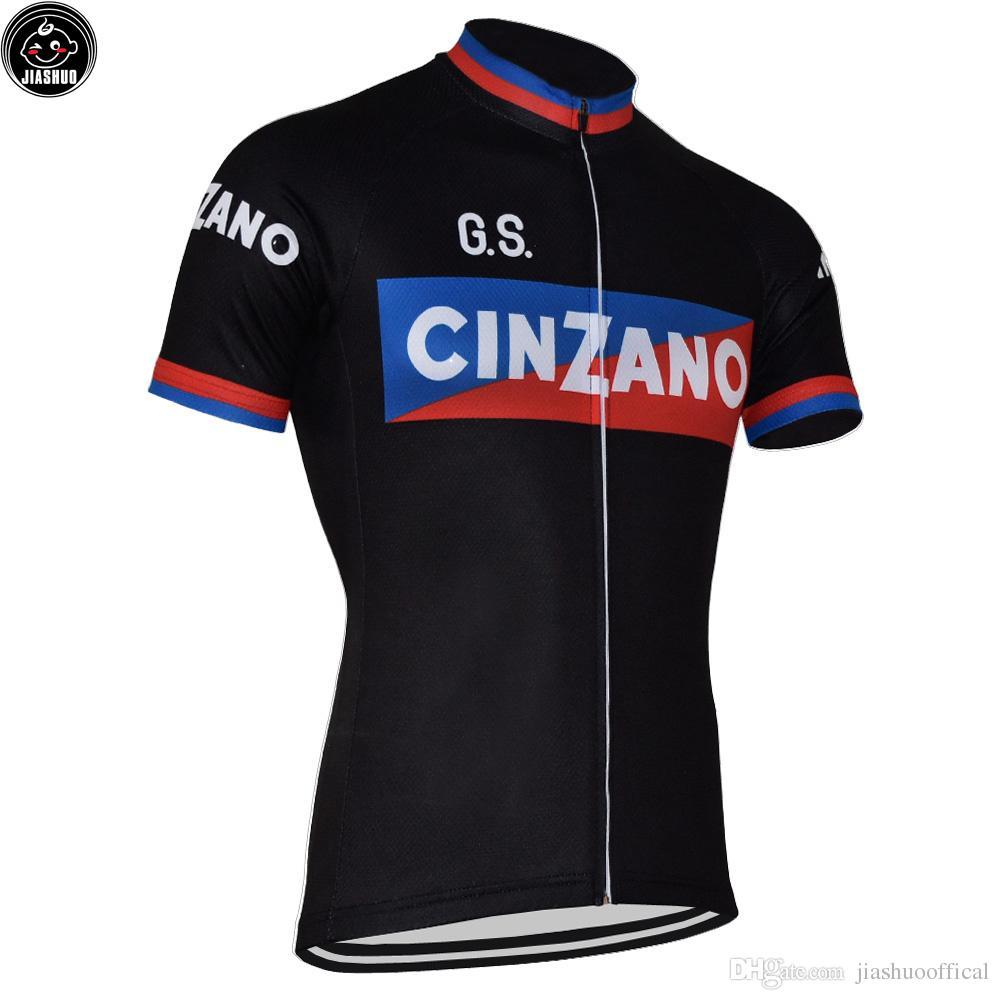 Klasyczny Czarny Retro Nowy MTB Road Racing Team Rower Pro Jazda na rowerze Jersey / Koszulki Topy Odzież Oddychanie Air Jiashuo