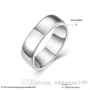 Al por mayor - Regalo de Navidad al por menor precio más bajo, envío gratis, nuevo anillo de plata 925 moda R004