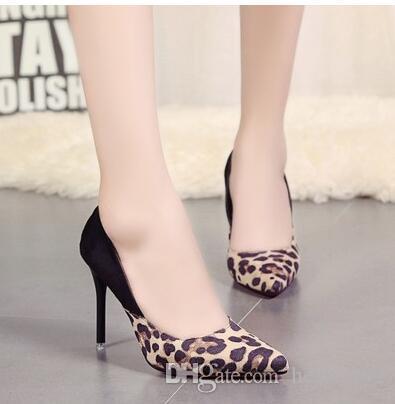 Европейские станции мода ультра-высокие каблуки указал штраф с мелкой рот обувь сексуальный леопарда острым красные нижние обувь ночной клуб обувь