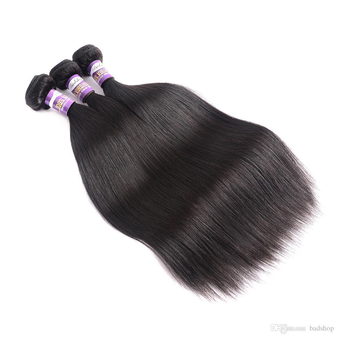 Mongolia sedoso pelo de la Virgen 3 o 4 paquetes 9a Natural Negro recto de Mongolia baratos humano de Remy de la armadura del pelo Extensiones 10 28 pulgadas