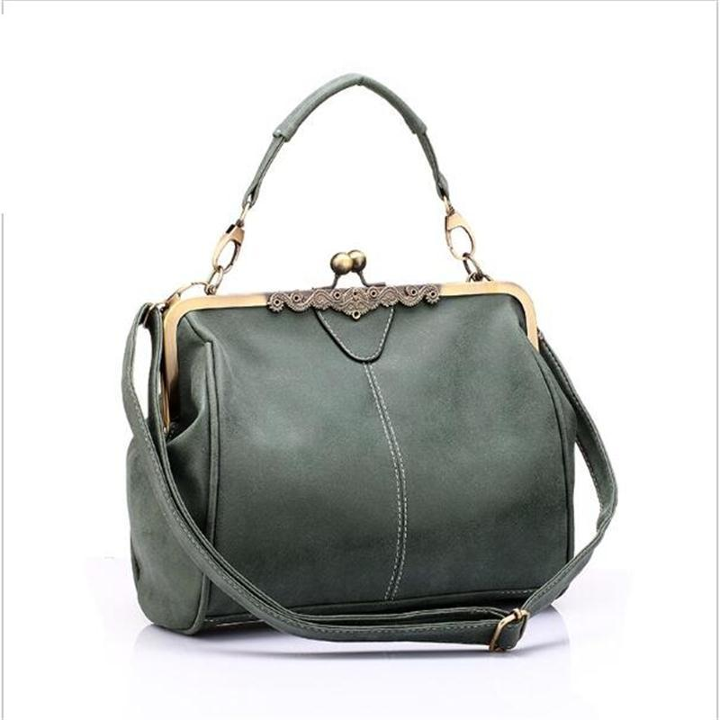 77a76649945a8 Wholesale Lowest Price!brand New Vintage Bags Retro PU Leather Tote Bag  Women Messenger Bags Small Green Clutch Ladies Shoulder Handbags Ladies  Handbags ...