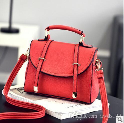 7c1a54883d94 Fashion Bag Nice Autumn And Winter New Female Package Japanese And Korean  Version Of The Tide Handbag Messenger Bag Shoulder Bag Lychee Patt