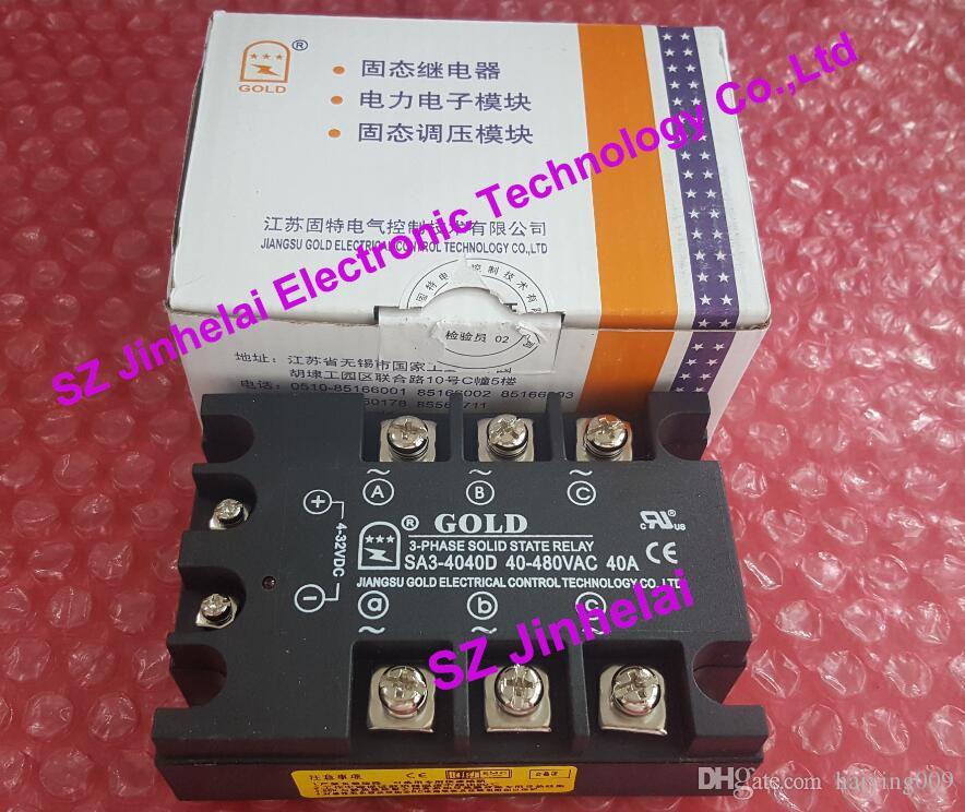 جديدة ومبتكرة SA34040D SA3-4040D GOLD 3-PHASE الحالة الصلبة التقوية SSR 4-32VDC ، 480VAC 40A