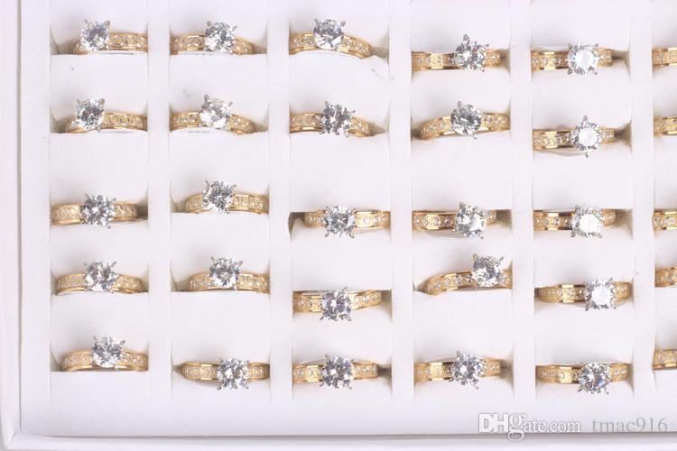 Оптовая 36 шт. mix размер партии унисекс покрытием из нержавеющей стали кольцо ювелирные изделия партии кольца комплект шнековые кольца обручальное кольцо подарок бесплатная доставка