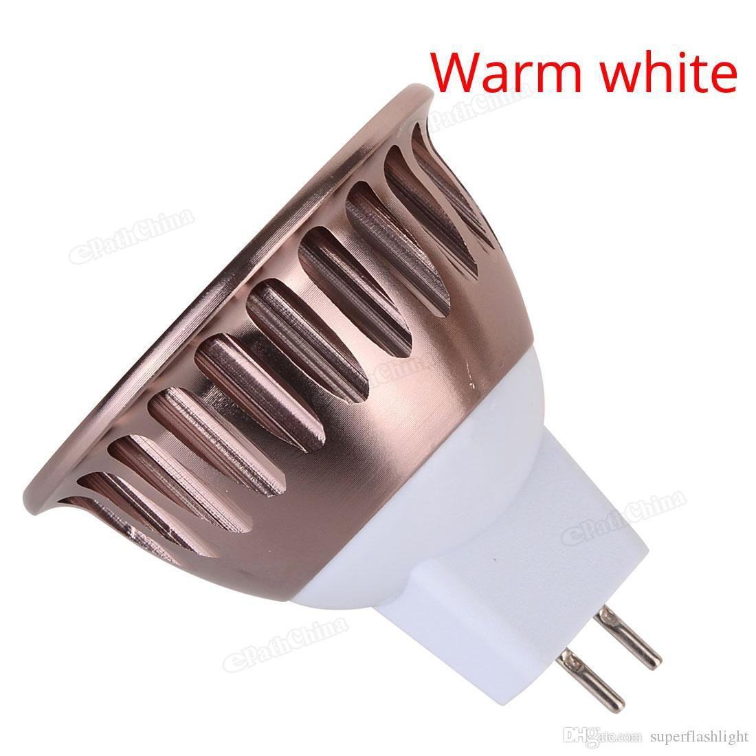 Dimmable MR16 720-800LM 6W 12V LED Light Bulb Warm White / White COB Spotlight Lamp Downlight LED_10V