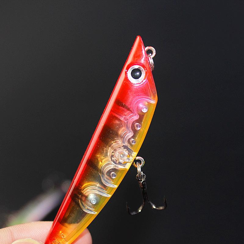 Hot selling High Quality Pencil Minnow 3D Fishing Lure 8cm 8.6g Freshwater Fishing Minow Laser baits fishing tackle