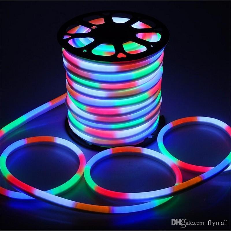 High Quality LED Flex Neon Rope Lights Waterproof Led Neon Tube Flexible  Strip Lights Indoor Outdoor Lighting Christmas Decoration Lights