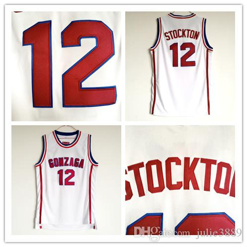 affe3815 ... 2017 2017 Newest 12 John Stockton White College Jersey Ncaa High School  12 John Stockton Basketball ...