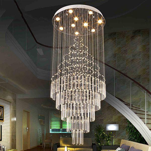 LED Pendant Light Art Design Living Room Dining Chandeliers K9 Crystal Fixtures AC110 240V Ceiling Lamps VALLKIN Lighting Multi Coloured