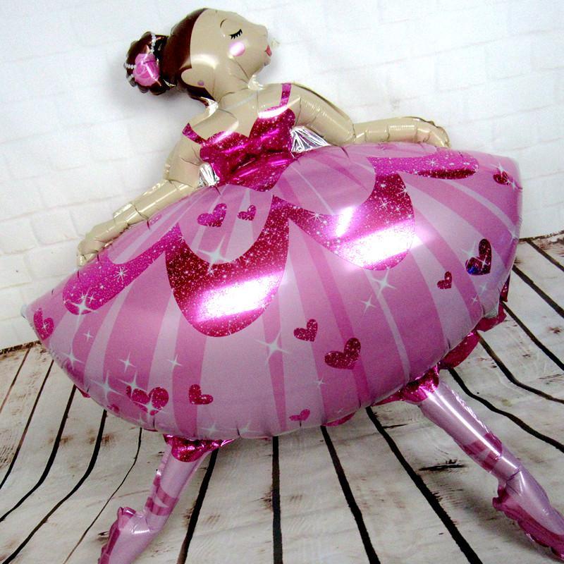 110*85cm Large Size Ballet Dancing Girl Foil Balloons Wedding Decoration Birthday Party Decoration Baby Girl Jumbo balloon