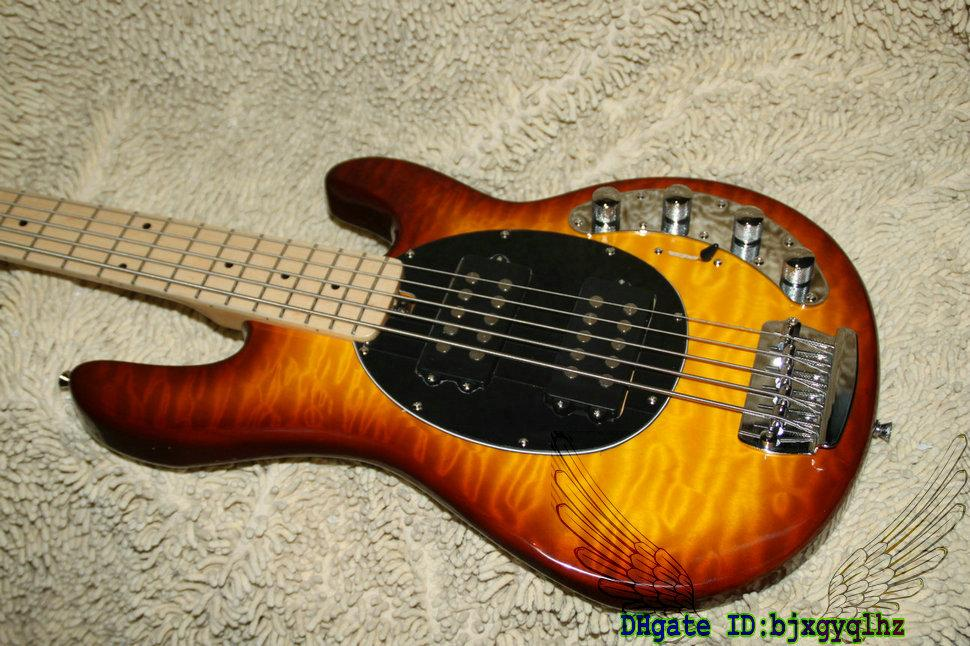 Newest StingRay 5 music man Electric Bass Maple Fingerboard Wholesale Guitars Best Selling