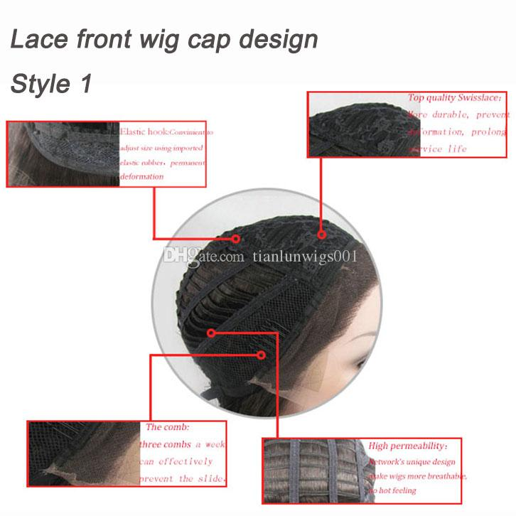 16 inch deep wave natural hairline lace wigs with baby hair full lace front wig making caps for women