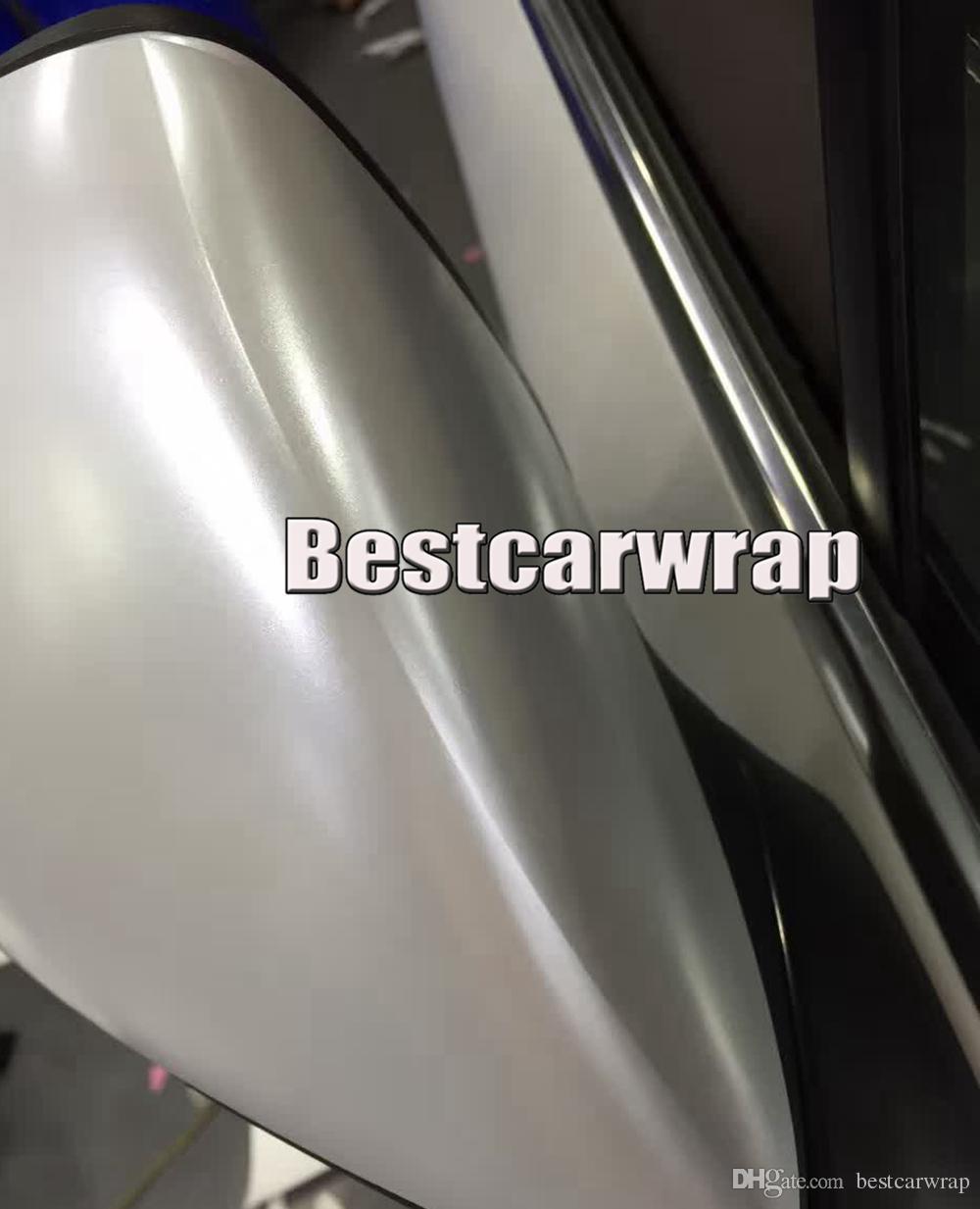 Сверху! Вспышка Белый хром атласный автомобиль обернуть винил стайлинг фольга Атлас - хром автомобиль упаковка кожи роскошные обертывания стикер размер 1.52x20m / Roll