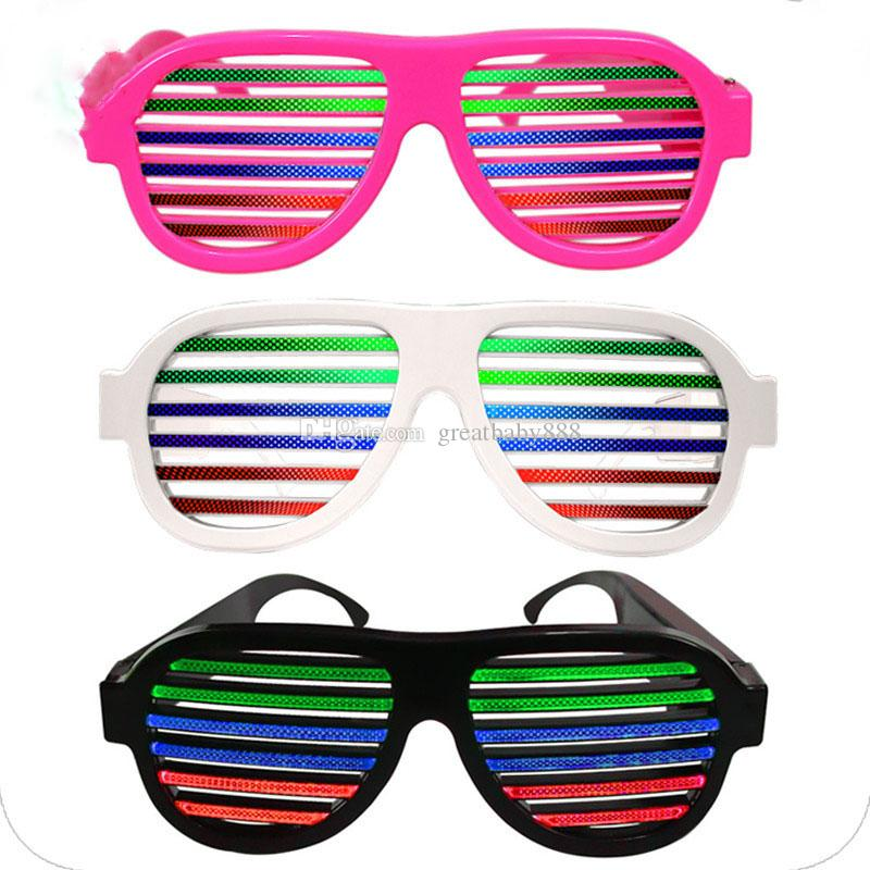 Voice Control Blinds LED Glowing Glasses Halloween Party LED Glasses  Fashion Bar Flashing Glasses Led Lighted Toys C2555 Kids Led Gloves Led  Spinning Toy ... 964e3a541b1