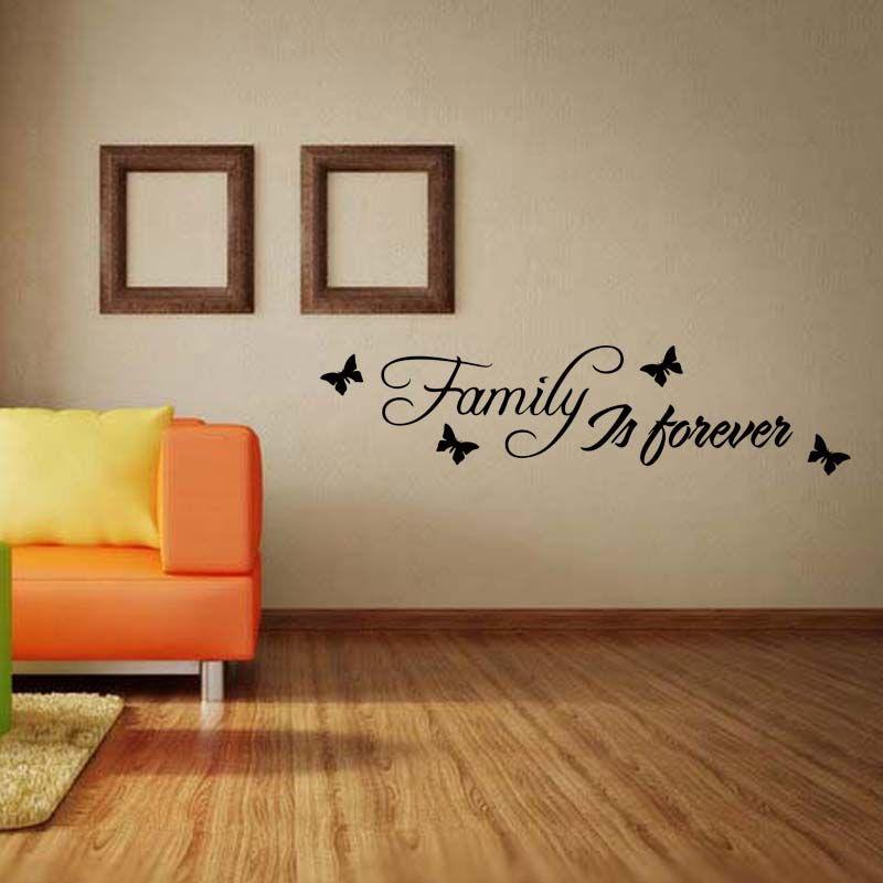 Aile Sonsuza Duvar Sticker Sanat Çıkarılabilir Komik Çıkartması Alıntı Yatak Odası Oturma Odası Dekorasyon Diy Olduğunu