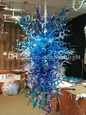 Lampadari di Delievry Chrome LED veloci Lampadario decorativo di luce bolla di vetro soffiato di trasporto libero LED nozze