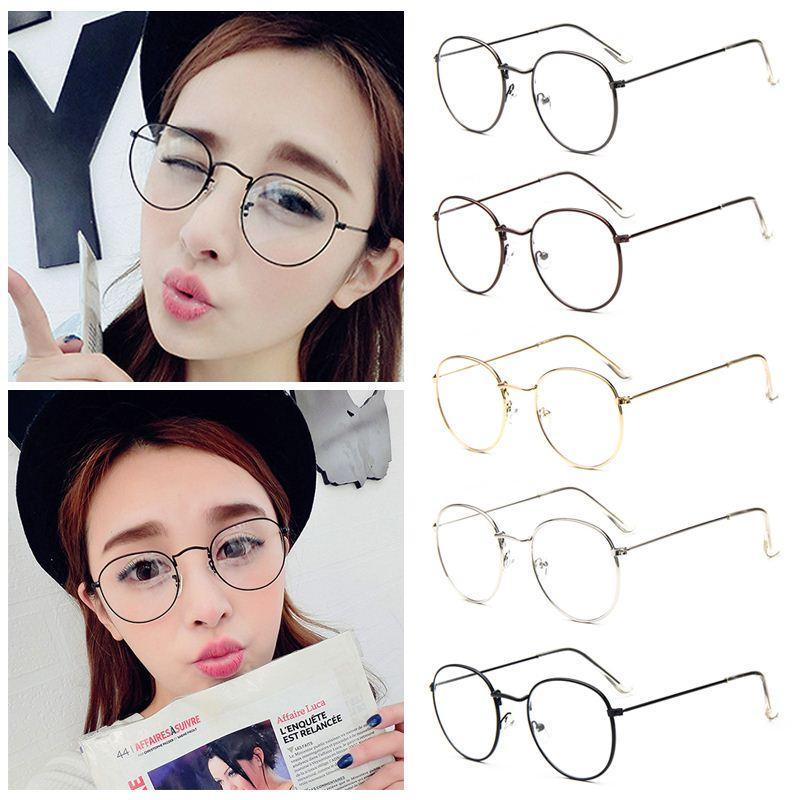 Fashion Vintage Women Eye Glasses Frames Plain Mirror Literary ...