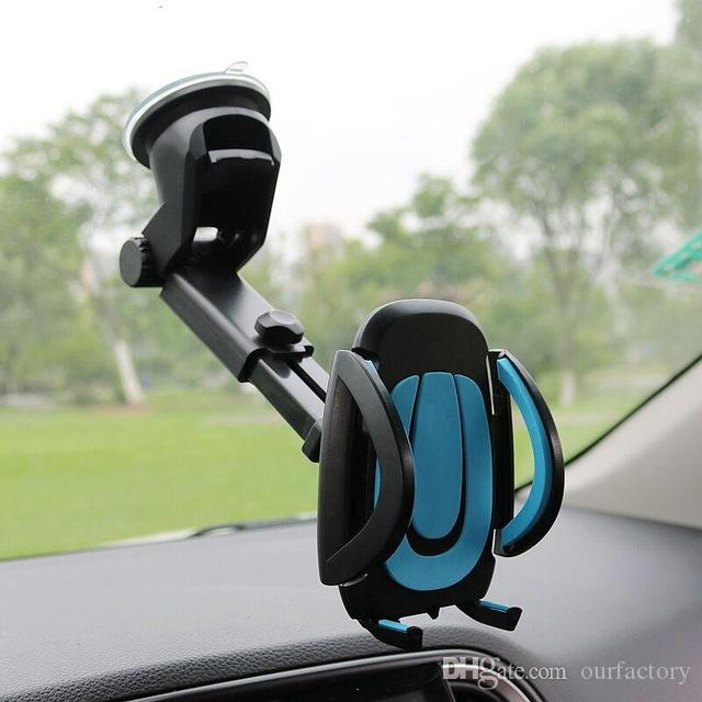 Car Phone Holder Gps Accessories Suction Cup Soporte Celular Para Auto Dashboard Windshield Mobile Cell Retractable Mount Stand 50ps/lot
