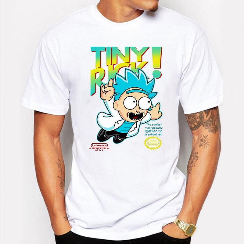 Men'S Clothing Summer Tiny Rick And Morty Man T Shirt Anime T ...