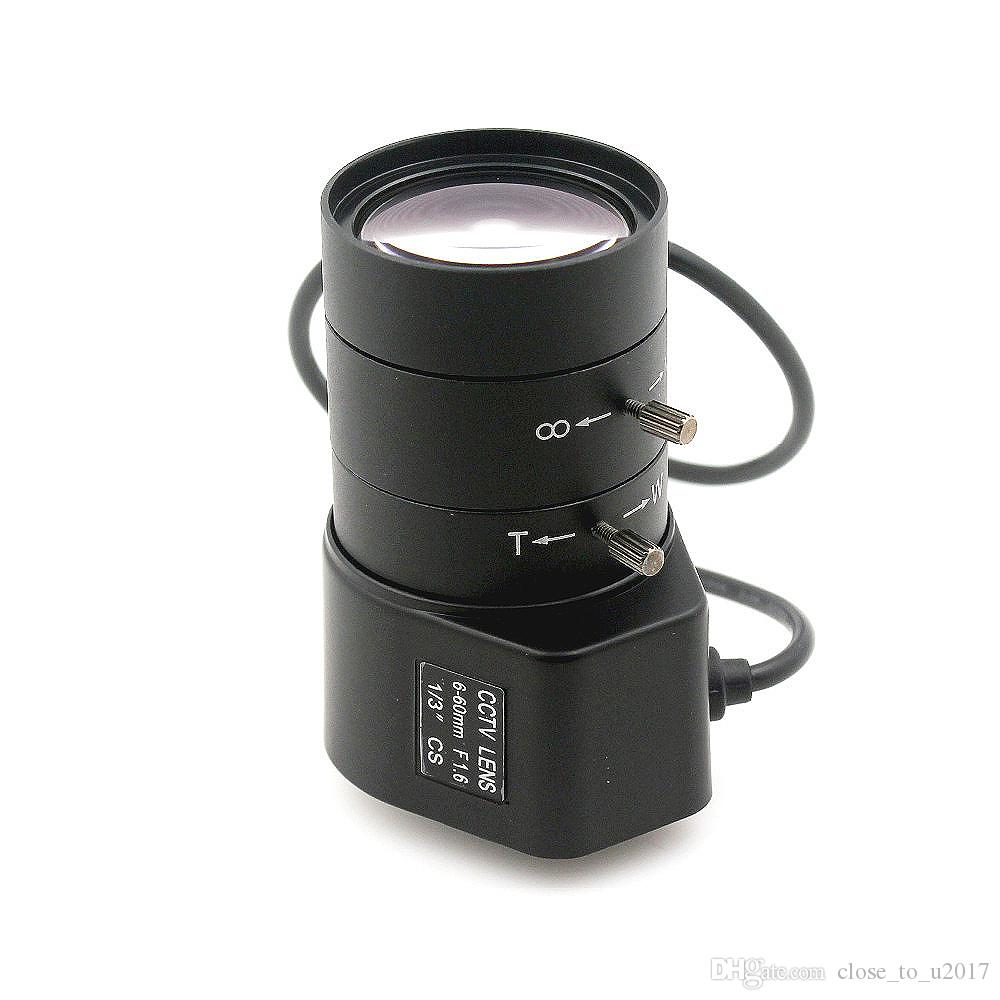 6-60mm CS lens 1.3MP 1/3inch F1.6 CS Mount DC Auto Iris Varifocal IR CCTV Lens for Box Body Camera