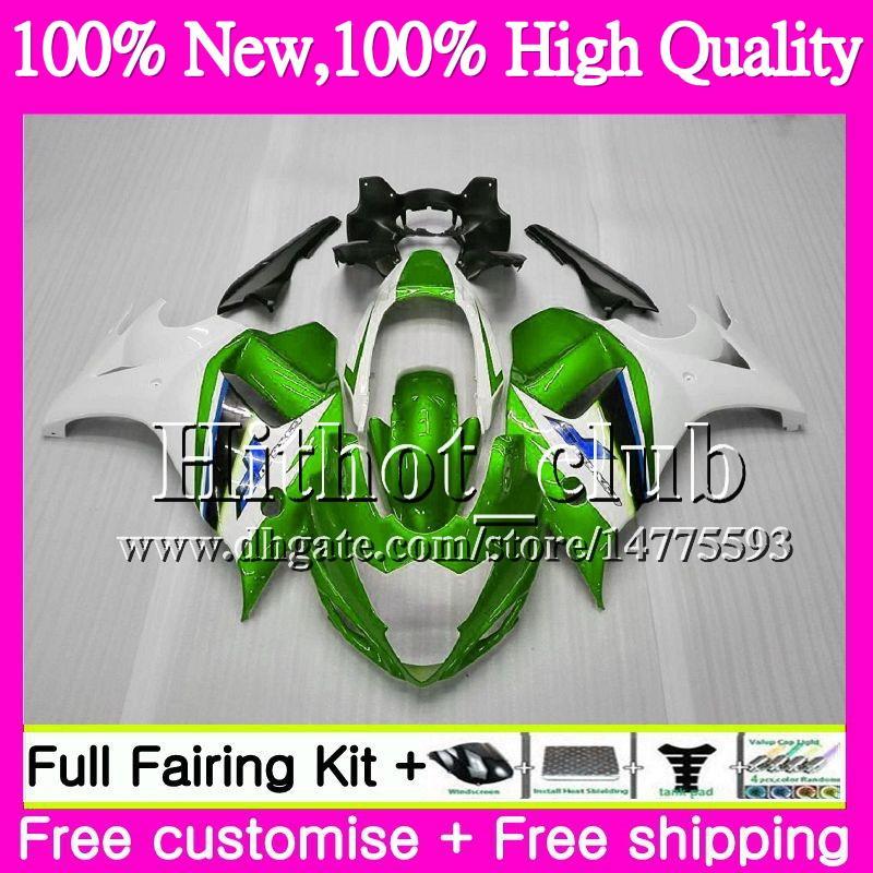 Bodys Para SUZUKI KATANA GSXF 650 650F GSX650F 08 09 10 11 Verde blanco 12 13 32HT17 GSXF650 2008 2009 2010 2011 2012 2013 Motorcycle Fairing