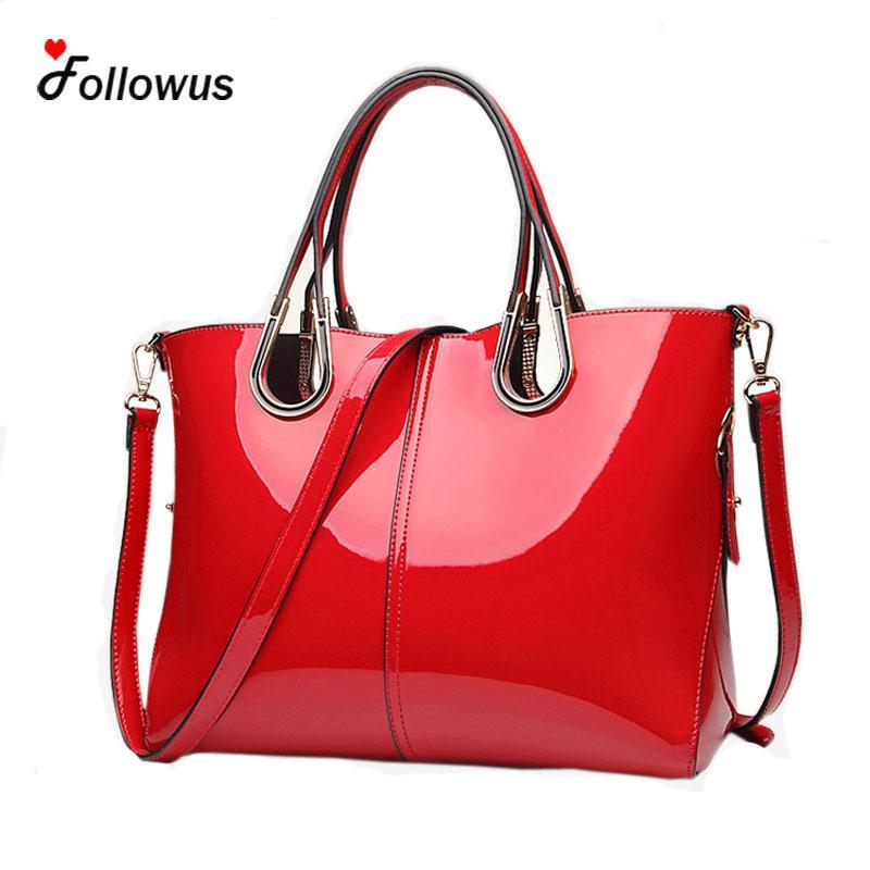 Stil; In Neue Klassische Luxus Designer Hohe Qualität Patent Leder Helle Oberfläche Top Griff Messenger Taschen Handtaschen Frauen Berühmte Marken Modischer