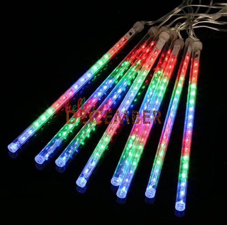 20 CM 30 CM 50 CM LED Blitzlichterketten 8 Rohr / Set LED Meteorschauer Regen Licht Saiten Urlaub Dekoration Beleuchtung AC 110-240 V