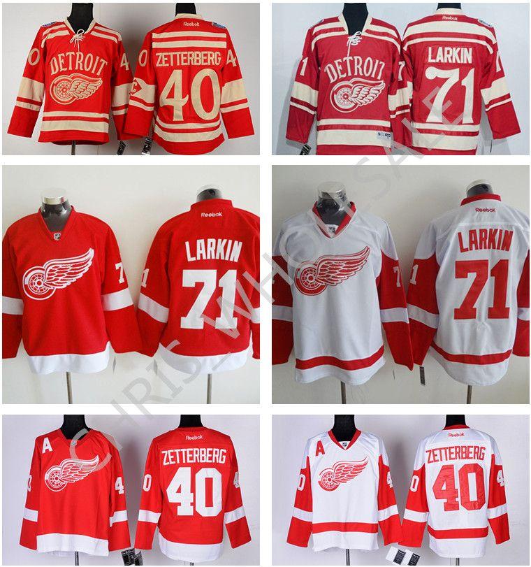 3db62af8d 2018 Nhl Men S Winter Classic  71 Dylan Larkin Jersey 2016 Stadium Series  Detroit Red Wings 40 Henrik Zetterberg Ice Hockey Jerseys Red White From ...