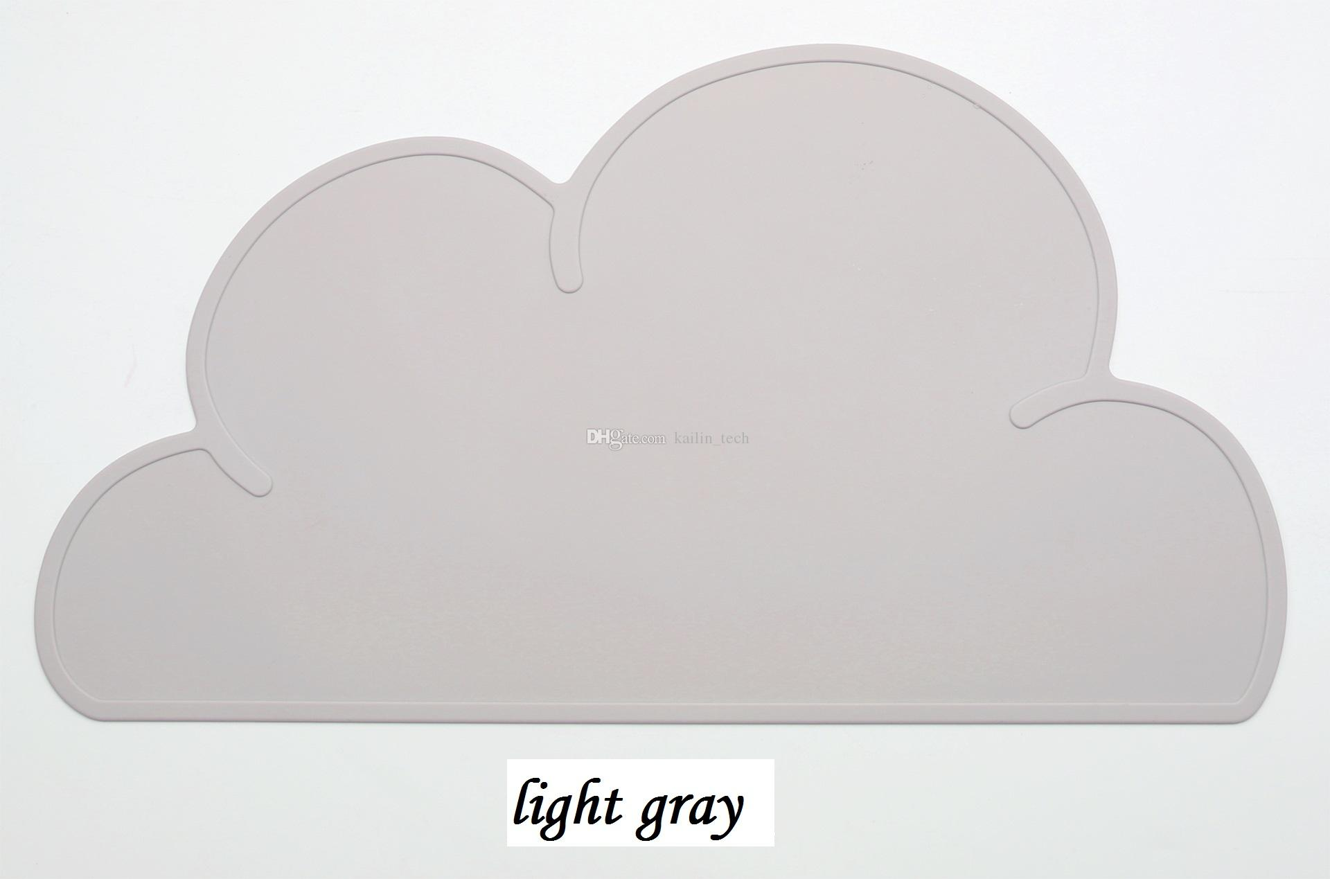 lovely clouds shape kids placemat baby feeding pad food grade silicone colorful table mat