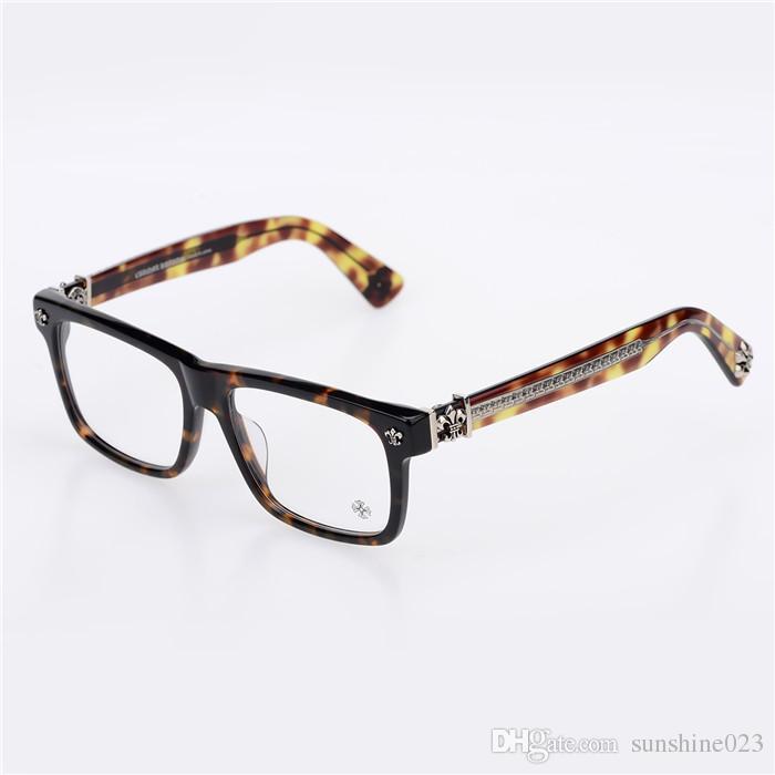 Brand-2017 Krom Kutu öğle-bir ulculos De Grau miyopi Gözlük Miyopi Çerçeve Erkekler Gözlük Kadın Gözlük Japonya Marka Optik Çerçeve