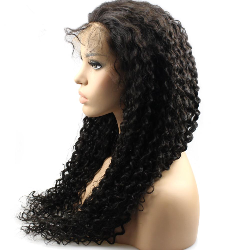 Kinky Curly Lace Wigs For African Women Virgin Hair Front Lace Wigs With Baby Hair Indian Hair Full Lace Wigs In Stock