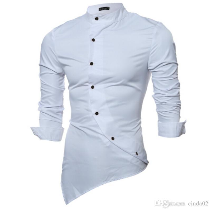 Compre Camisas De Vestir Masculinas Camisas Masculinas De Polca Masculina  Camisas Masculinas De Manga Curta Camisas Masculinas Camisola De Manga  Comprida ... 29129f64880e4
