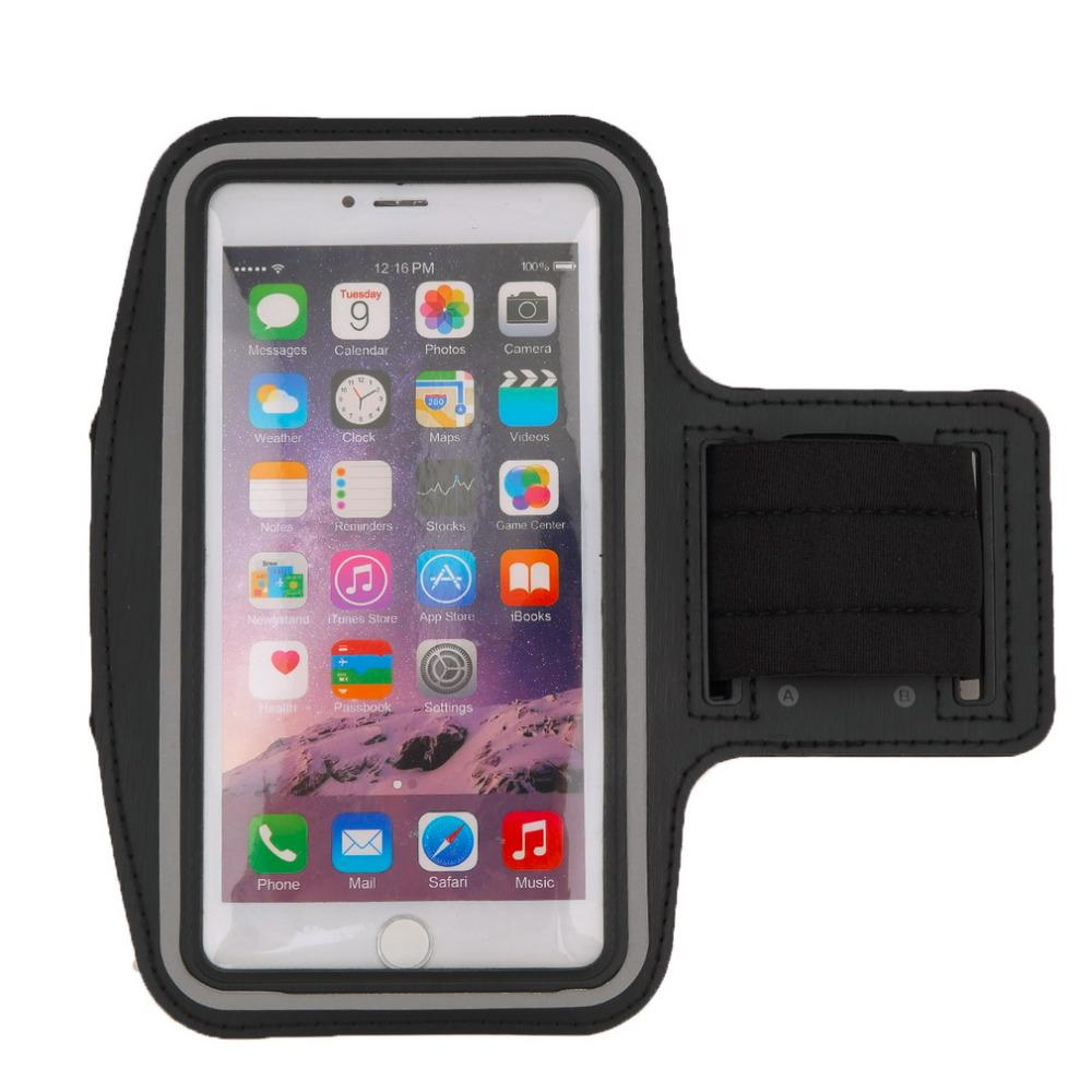 Wholesale- 1pcs  Running Jogging Sports GYM Armband Case Cover Holder for iPhone 6 Plus Reflective strip neoprene material Hot Sales