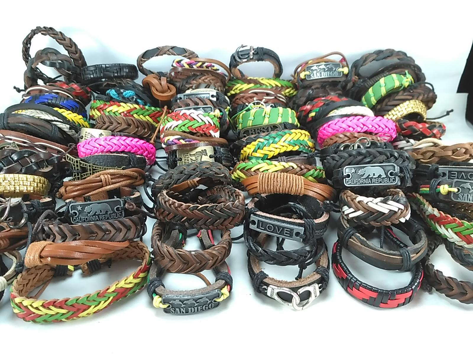 / mixed styles surfer cuff ethnic tribal retro leather bracelets fashion jewelry